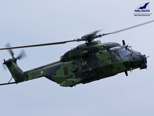 Finnish NH90 Tactical Transport Helicopter Wallpaper