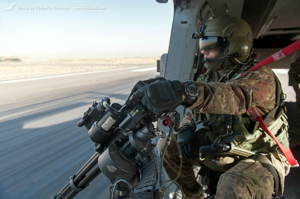 Italian Army NH90 in Afghanistan - Take-off from FSB Herat ...
