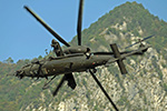 AH-129 and UH-90 helicopters in the Italian mountains