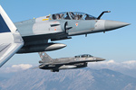 Hellenic Air Force F-4E Phantom II, Mirage 2000-5, and F-16D Fighting Falcon formation