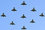 RAF Leuchars 6 Sqn Typhoon Diamond Jubilee Formation