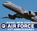 Royal New Zealand Air Force Boeing 757-200 in 75th Anniversary markings